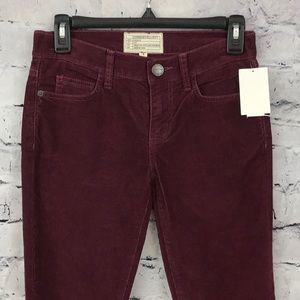 Current Elliott Burgundy Corduroy Jeans